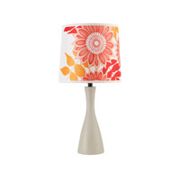 Lights UP Oscar 1 Light Boudoir Table Lamp in Soy with Anna Red Shade 260SO-ANR