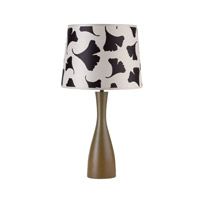Lights UP Oscar 1 Light Table Lamp in Olive with Black Ginko Leaf Shade RS-264OL-BGL