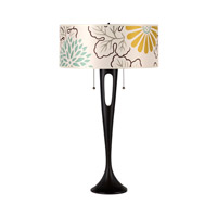Lights UP Soiree 2 Light Table Lamp in Antique Bronze with Kimono Shade RS-281AB-KIM