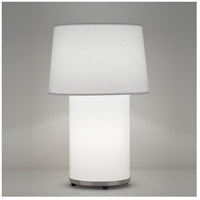 Lights UP 453BN-CWD Mombo 32 inch 100 watt Brushed Nickel Table Lamp Portable Light in Cherry Veneer, Grande