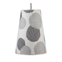 Lights UP Reza 1 Light Pendant in Brushed Nickel with Black Mumm Shade RS-9116BN-BKM