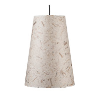 Lights UP Reza 1 Light Pendant in Brushed Nickel with Mango Leaf Shade RS-9116BN-MLF