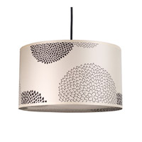 Lights UP Meridian Medium 1 Light Pendant in Brushed Nickel with Black Mumm Shade 9203BN-BKM