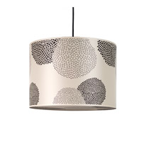 Lights UP Meridian 2 Light Large Pendant in Brushed Nickel with Black Mumm Shade 9204BN-BKM