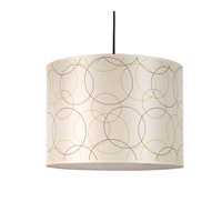 Lights UP Meridian 2 Light Large Pendant in Brushed Nickel with Circles Shade RS-9204BN-CIR