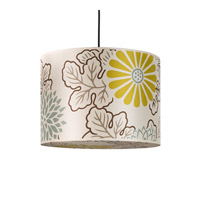 Lights UP Meridian 2 Light Large Pendant in Brushed Nickel with Kimono Shade 9204BN-KIM