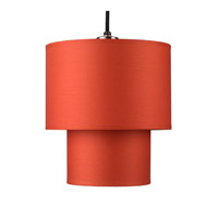 Lights UP Deco 1 Light Small Pendant in Brushed Nickel with Burnish Chintz Shade RS-9205BN-BUC