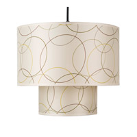 Lights UP Deco 1 Light Pendant in Brushed Nickel with Circles Shade RS-9207BN-CIR