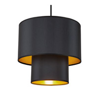 Lights UP Deco 1 Light Pendant in Croissant Silk Glow RS-9207BN-MBG