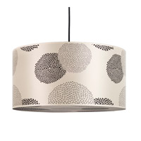 Lights UP Meridian Grande 2 Light Pendant in Brushed Nickel with Black Mumm Shade 9224BN-BKM