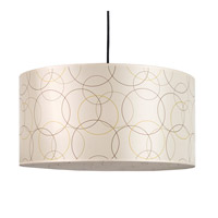Lights UP Meridian 2 Light Grande Pendant in Brushed Nickel with Circles Shade RS-9224BN-CIR