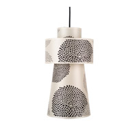 Lights UP Lucy 1 Light Pendant in Brushed Nickel with Black Mumm Shade RS-9309BN-BKM