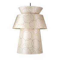 Lights UP Louie 1 Light Pendant in Brushed Nickel with Circles Shade RS-9316BN-CIR