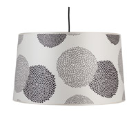 Lights UP Weegee 2 Light Pendant in Brushed Nickel with Black Mumm Shade RS-9703BN-BKM