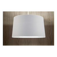 Lights UP Weegee 2 Light Pendant in Brushed Nickel with Metallic White & Silver Shade 9703BN-MWS