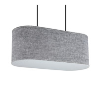 Lights UP Blip 20 2 Light Pendant in Brushed Nickel with Penguin Tweed Shade 9420BN-PEN