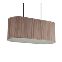 Blip 20 LED 12 inch Brushed Nickel Pendant Ceiling Light in Walnut Veneer