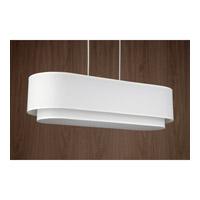 Lights UP 9534BN-WHT Blip Double 34 LED 12 inch Brushed Nickel Pendant Ceiling Light in White Linen