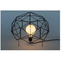 Lights UP W255PB-2000BK Geo 21 inch 100 watt Powder Coat Black Table Lamp Portable Light