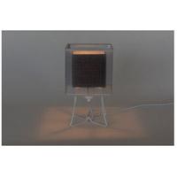 Lights UP W320PW-DBL-2000WH-SOR/BLK Virgil 13 inch 100 watt White Powder Coat Table Lamp Portable Light Slim Small