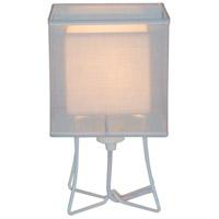 Lights UP W320PW-DBL-2000WH-SOR/WHT Virgil 13 inch 100 watt White Powder Coat Table Lamp Portable Light Slim Small
