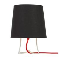 Lights UP W320PW-2000RD Virgil 14 inch 100 watt Powder Coat White Table Lamp Portable Light Slim Small