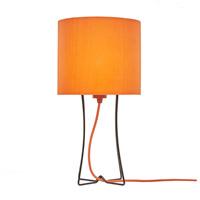 Lights UP W322PB-2000OR Virgil 20 inch 100 watt Powder Coat Black Table Lamp Portable Light Slim Tall