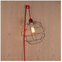 Lights UP W908UF-2000RD Globe 1 Light Unfinished Metal Pendant Ceiling Light, Small
