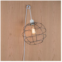 Lights UP W908UF-2000WH Globe 1 Light Unfinished Metal Pendant Ceiling Light, Small