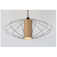 Lights UP W944UF-2000BK-ZWD Woody Nelson 1 Light Unfinished Metal Pendant Ceiling Light