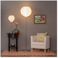Lights UP 767BN-QDT Meridian 59 inch 60 watt Brushed Nickel Floor Lamp Portable Light in Quilted Gold Duotrans