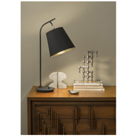 Lights UP 455PB-CCC Walker 26 inch 100 watt Black Powder Coat Table Lamp Portable Light in Cocoa Chintz