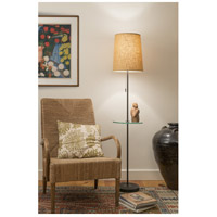 Lights UP 923AI-BLK Zoe 60 inch 100 watt Antique Iron Floor Lamp Portable Light with Tray Table