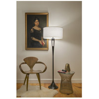 Lights UP 981AB-IVY Soiree 60 inch 75 watt Antique Bronze Floor Lamp Portable Light in Ivory Ipanema