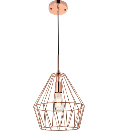 Living District LD4008D11G Candor 1 Light 11 inch Rose Gold Pendant Ceiling Light photo thumbnail