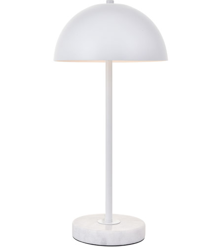 Living District LD4026T10WH Forte 21 inch 40 watt White with White Marble Table lamp Portable Light photo thumbnail