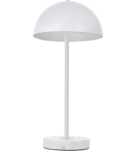 Living District LD4026T10WH Forte 21 inch 40 watt White with White Marble Table lamp Portable Light alternative photo thumbnail