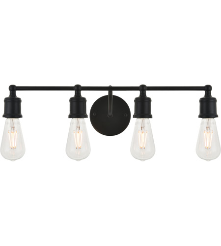 Living District LD4028W22BK Serif 4 Light 22 inch Black Wall Sconce Wall Light photo thumbnail