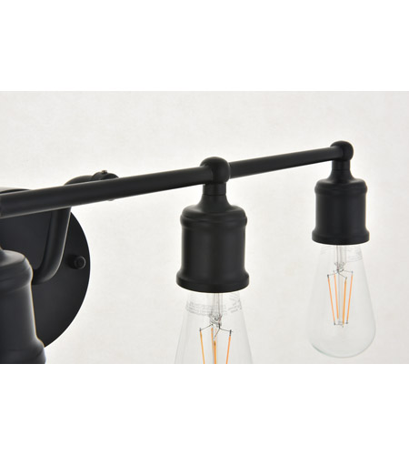 Living District LD4028W22BK Serif 4 Light 22 inch Black Wall Sconce Wall Light alternative photo thumbnail