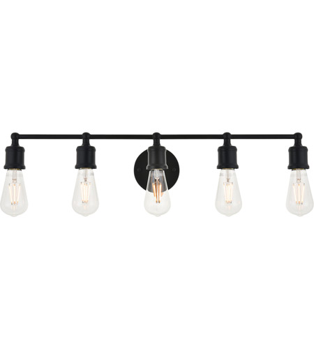 Living District LD4028W29BK Serif 5 Light 29 inch Black Wall Sconce Wall Light photo thumbnail
