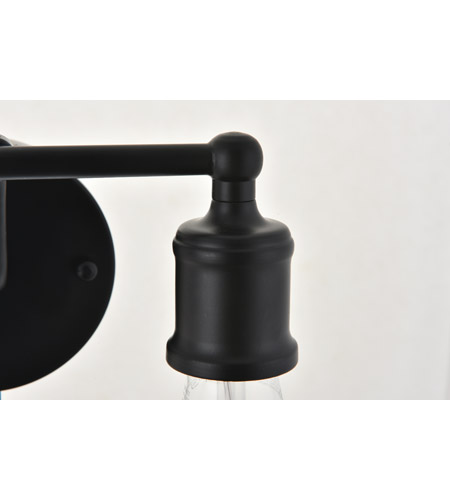 Living District LD4028W9BK Serif 2 Light 9 inch Black Wall Sconce Wall Light alternative photo thumbnail