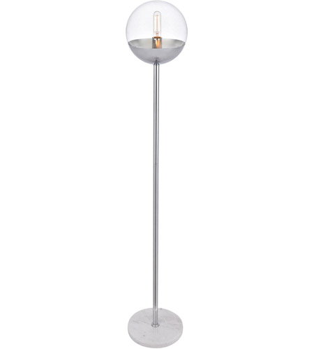 Living District LD6149C Eclipse 62 inch 40 watt Chrome Floor Lamp Portable Light alternative photo thumbnail
