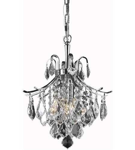 online store e5a30 1d2f4 Living District LD8100D12C Amelia 3 Light 12 inch Chrome Pendant Ceiling  Light
