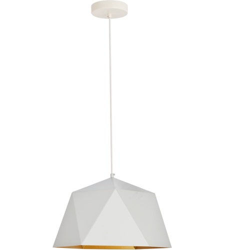 living district ldpd2080 arden 1 light 15 inch white with golden