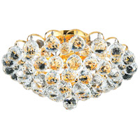 Living District LD2001F14G Valentina 4 Light 14 inch Gold Flush Mount Ceiling Light