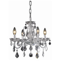 Living District LD2015D17C Calista 4 Light 17 inch Chrome Pendant Ceiling Light