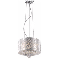 Living District LD2078D12C Siri 3 Light 12 inch Chrome Pendant Ceiling Light
