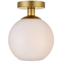 Baxter 1 Light 8 inch Brass Flush Mount Ceiling Light