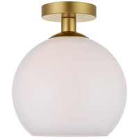 Living District LD2211BR Baxter 1 Light 10 inch Brass Flush Mount Ceiling Light