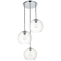 Living District LD2214C Baxter 3 Light 20 inch Chrome Pendant